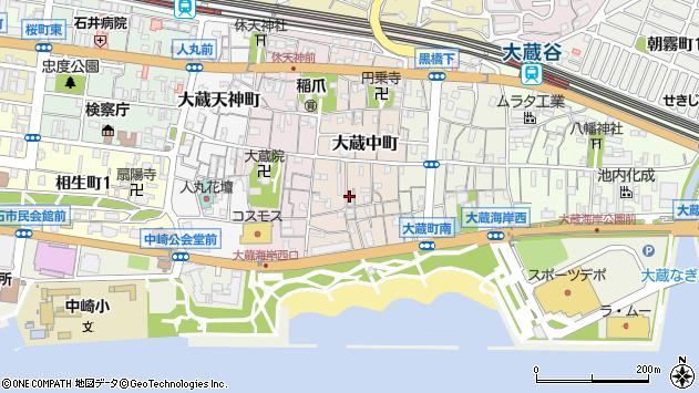 〒673-0873 兵庫県明石市大蔵中町の地図