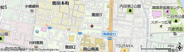 岡山県岡山市北区奥田周辺の地図