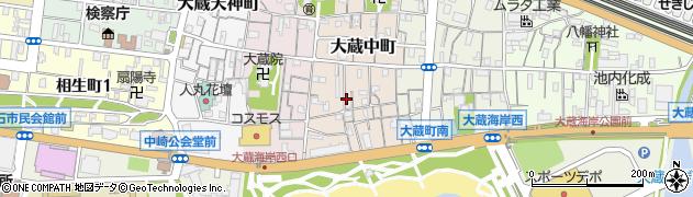 兵庫県明石市大蔵中町周辺の地図