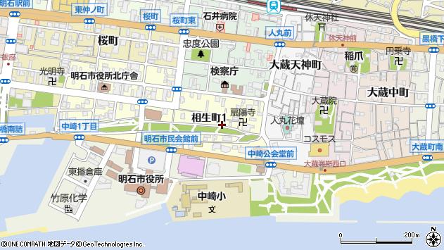 〒673-0882 兵庫県明石市相生町の地図