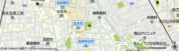長瀬神社周辺の地図