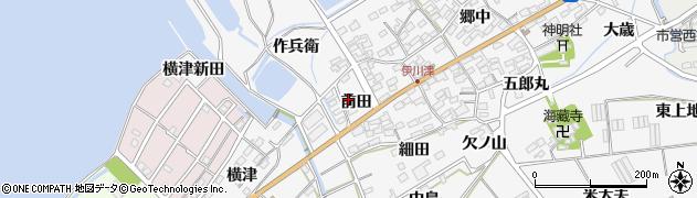 愛知県田原市伊川津町(前田)周辺の地図