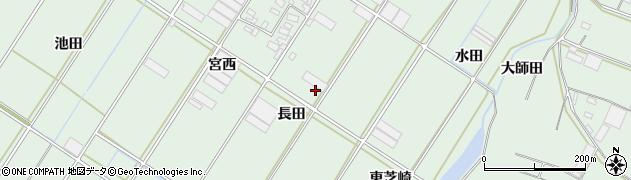 愛知県田原市大久保町(長田)周辺の地図