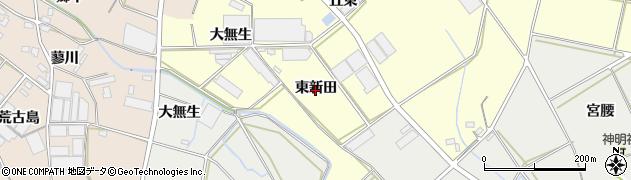 愛知県田原市神戸町(東新田)周辺の地図