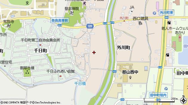 〒639-1052 奈良県大和郡山市外川町の地図