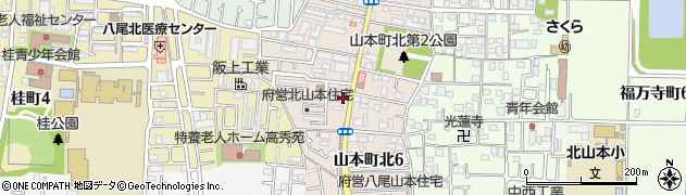 府営北山本住宅周辺の地図