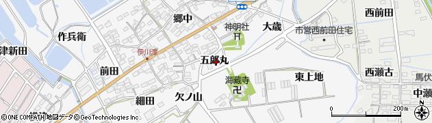 愛知県田原市伊川津町(五郎丸)周辺の地図