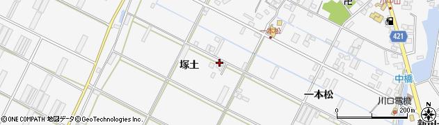 愛知県田原市小中山町(塚土)周辺の地図