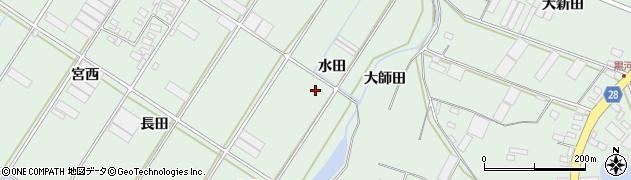 愛知県田原市大久保町(水田)周辺の地図