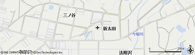 愛知県田原市江比間町(新太田)周辺の地図
