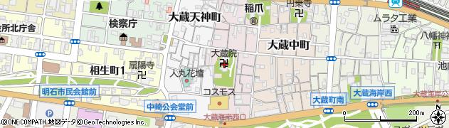 大蔵院周辺の地図