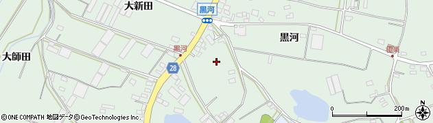 愛知県田原市大久保町(黒河)周辺の地図
