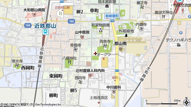 〒639-1145 奈良県大和郡山市南大工町の地図