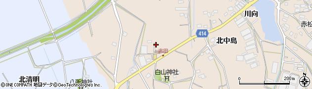 愛知県田原市西神戸町(長塚)周辺の地図