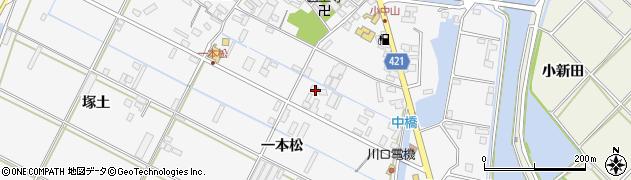 愛知県田原市小中山町(一本松)周辺の地図