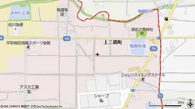 〒639-1102 奈良県大和郡山市上三橋町の地図