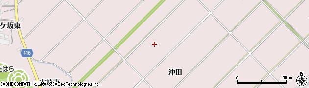 愛知県田原市野田町(沖田)周辺の地図