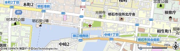 浜光明寺周辺の地図