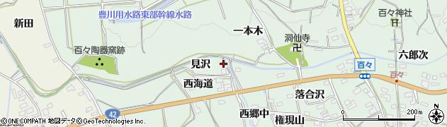 愛知県田原市六連町(見沢)周辺の地図