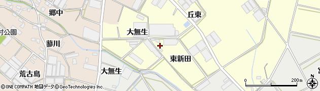 愛知県田原市神戸町(大無生)周辺の地図