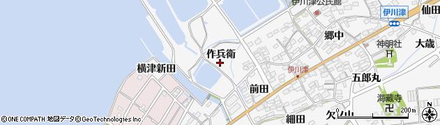 愛知県田原市伊川津町(作兵衛)周辺の地図