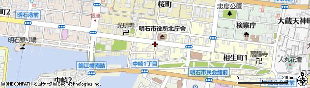 兵庫県明石市相生町2丁目周辺の地図