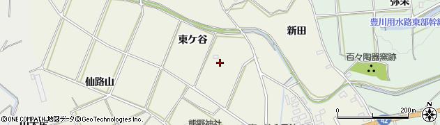 愛知県田原市東神戸町(東ケ谷)周辺の地図