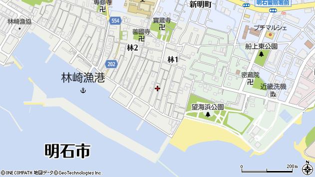 〒673-0034 兵庫県明石市林の地図