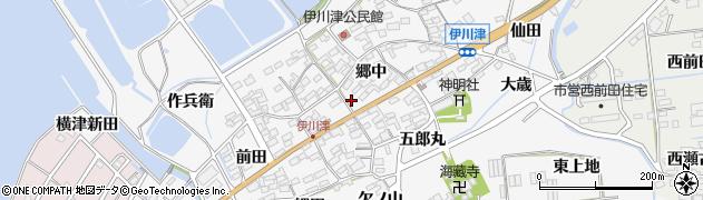 愛知県田原市伊川津町(郷中)周辺の地図