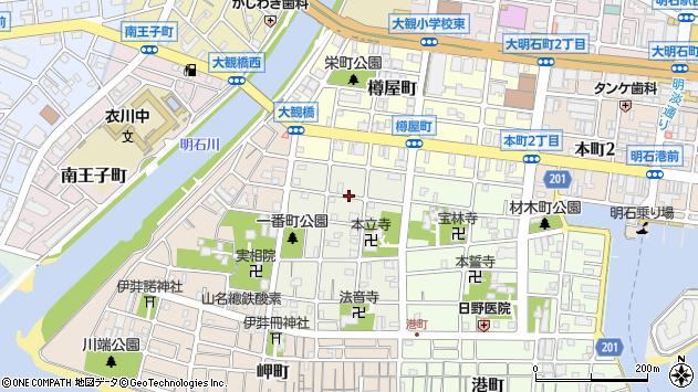 〒673-0896 兵庫県明石市日富美町の地図