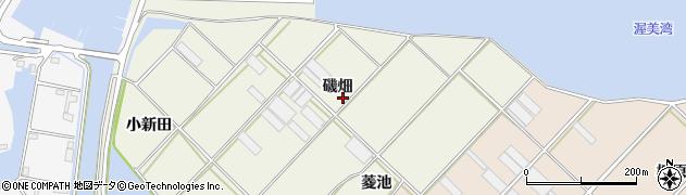 愛知県田原市中山町(磯畑)周辺の地図