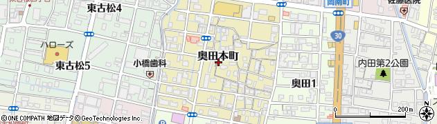 岡山県岡山市北区奥田本町周辺の地図