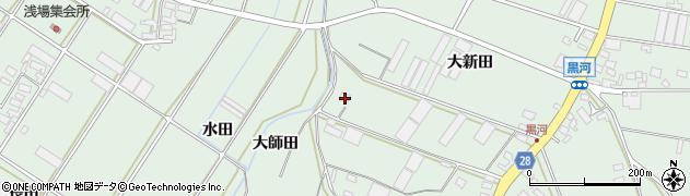 愛知県田原市大久保町(大師田)周辺の地図