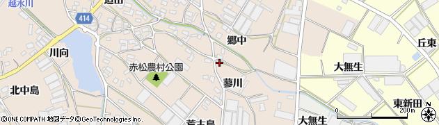 愛知県田原市西神戸町(蓼川)周辺の地図