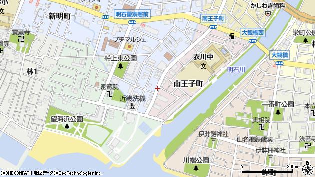 〒673-0024 兵庫県明石市南王子町の地図
