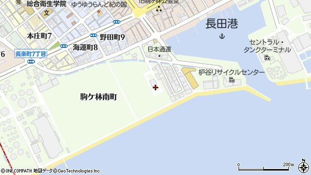 〒653-0045 兵庫県神戸市長田区駒ケ林南町の地図