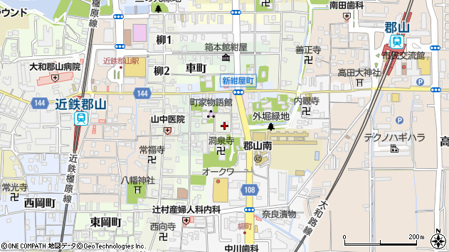 〒639-1144 奈良県大和郡山市洞泉寺町の地図