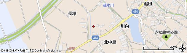 愛知県田原市西神戸町周辺の地図