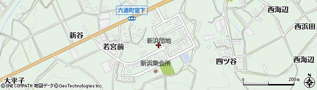 愛知県田原市六連町(新浜)周辺の地図