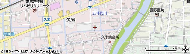 岡山県岡山市北区久米周辺の地図