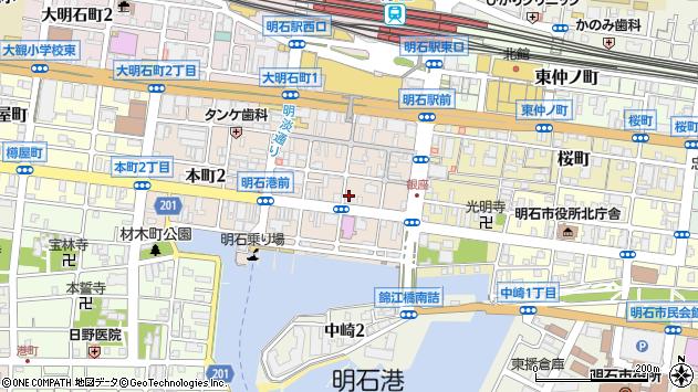 〒673-0892 兵庫県明石市本町の地図