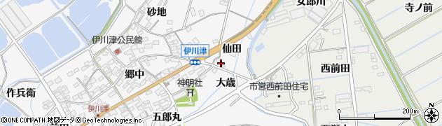 愛知県田原市伊川津町(仙田)周辺の地図