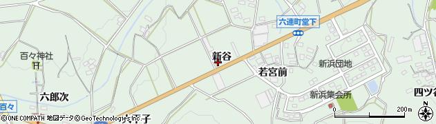 愛知県田原市六連町(新谷)周辺の地図