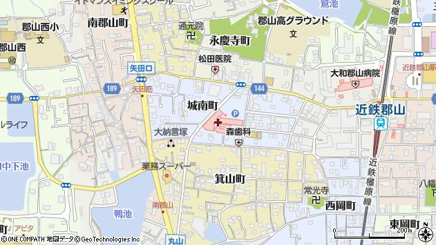 〒639-1016 奈良県大和郡山市城南町の地図