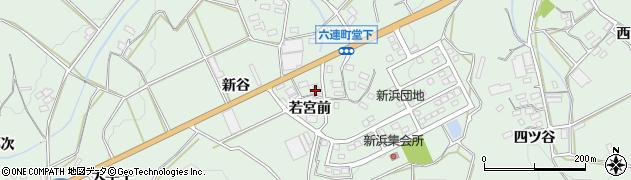 愛知県田原市六連町(若宮前)周辺の地図