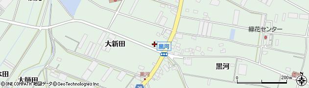 愛知県田原市大久保町(大新田)周辺の地図