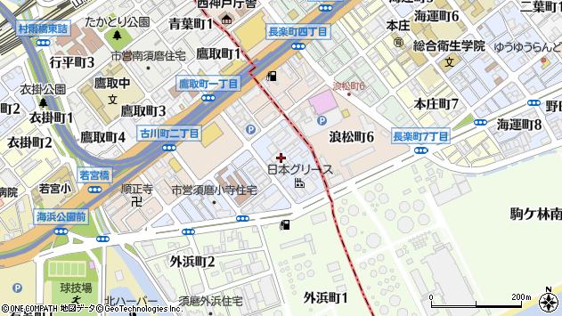 〒654-0042 兵庫県神戸市須磨区小寺町の地図