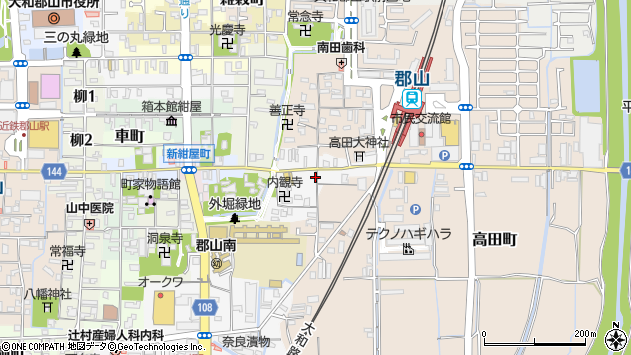〒639-1133 奈良県大和郡山市高田口町の地図