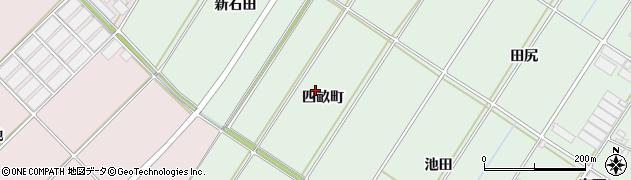 愛知県田原市大久保町(四畝町)周辺の地図