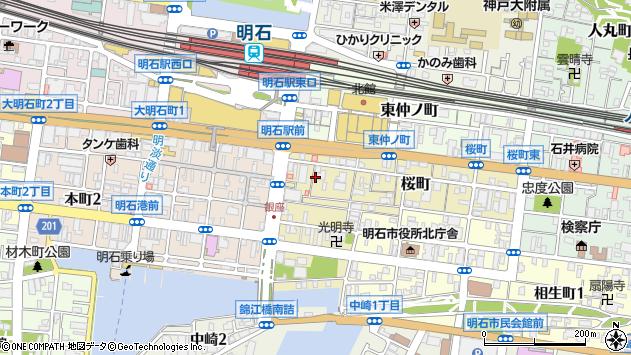〒673-0885 兵庫県明石市桜町の地図